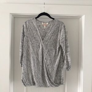 Jessica Simpson Heather Gray Maternity Nursing Top